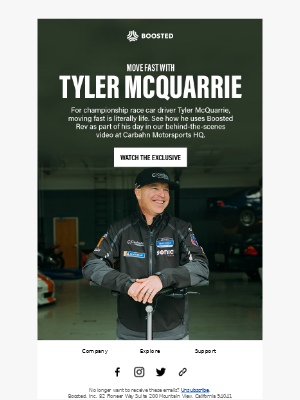 Move Fast With Pro Race Car Driver Tyler McQuarrie