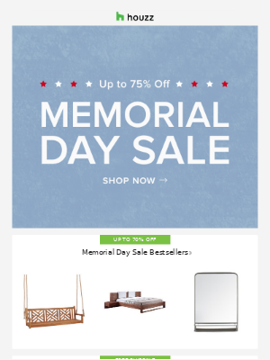 The Memorial Day Sale is ON! ⚡️