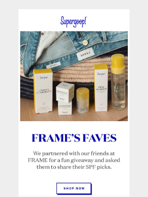 Summer Giveaway: Supergoop! x FRAME