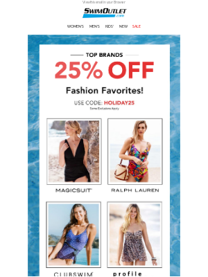 SwimOutlet - 25% OFF Fashion Faves👙❤️