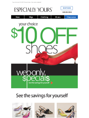 Especially Yours - $10 OFF Shoes Is Gonna Walk Away…