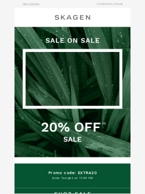 Now or never: 20% off sale
