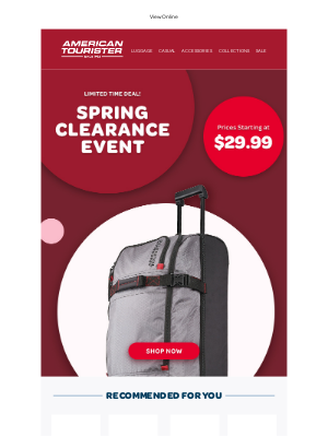 American Tourister - 💥 Spring Clearance starting at $29.99 💥