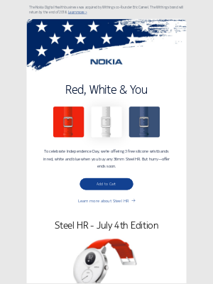 A special offer to celebrate Independence Day