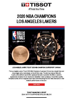 Tissot Watches - Congratulations LA Lakers!