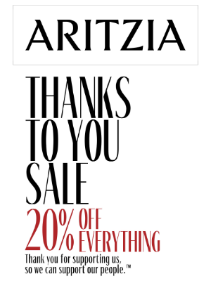 Thanks To You Sale ― 20% off everything