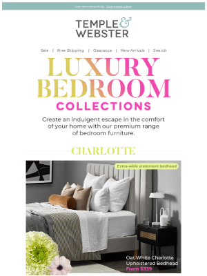 Temple & Webster (AU) - Indulge yourself with luxurious bedroom upgrades