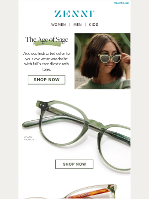 Zenni Optical - Fall's Hottest Hue: Sage