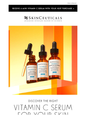 SkinCeuticals - Receive a MINI Vitamin C Serum With Your Next Purchase >