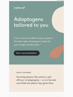 Care of - Adaptogens for your needs