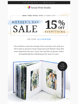 Celebrating Mother's Day with a SALE!