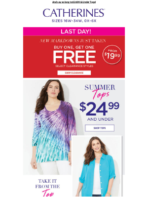 Catherines - 👋🏻 Wave goodbye to FREE Clearance…