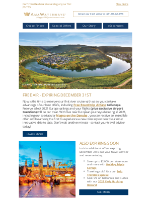 AmaWaterways - Just Three Days Left on our Most Lucrative Offers!