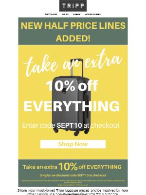 Tripp (UK) - 🔥Take an extra 10% off EVERYTHING