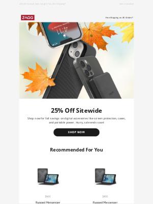 ZAGG - Last Chance for Fall Savings!
