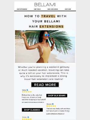 BELLAMI Hair - [HOW-TO] 💁♀️ Travel with Your Hair Extensions ✈️