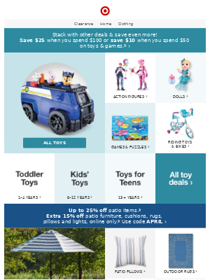 Last chance: Save big on toys & games.