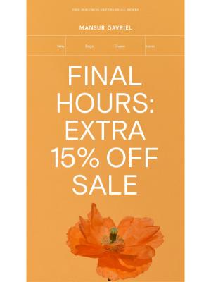 Mansur Gavriel - FINAL HOURS: extra 15% off Summer Sale