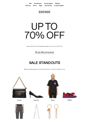 SSENSE - Best of Sale: Up to 70% Off