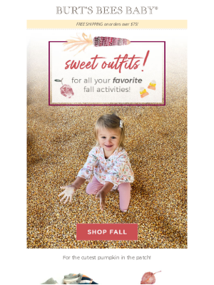 Burt's Bees Baby - Outfits for your outdoor fall activities! 🌽🎃