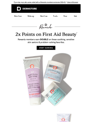 DermStore - 2x points on First Aid Beauty starts now!