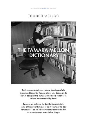 Tamara Mellon - The Tamara Mellon Dictionary