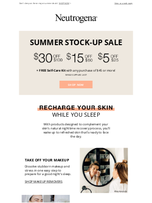 Neutrogena - Score up to $30 off your summer glow.
