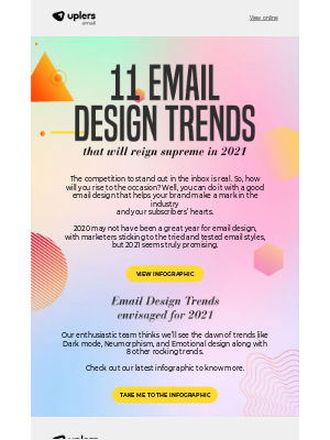 Email Monks - Email Design Trends 2021 - Email Uplers' New Infographic