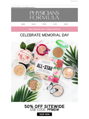 Physicians Formula - 50% Off Sitewide Starts Now!