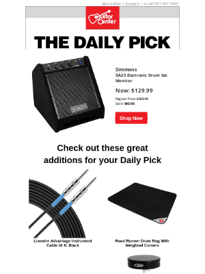 Guitar Center - The Daily Pick: Save 24% today only