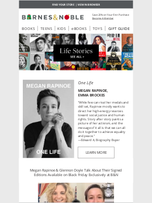 Barnes & Noble - Life Stories & the Best Biographies of 2020