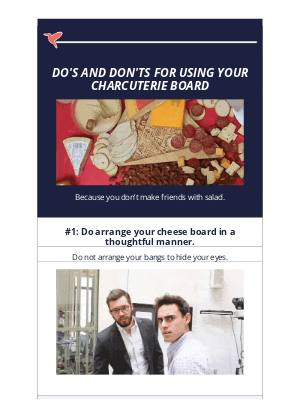 Birddogs Shorts - 3 Rules For Using Your New (Free) Cheeseboard