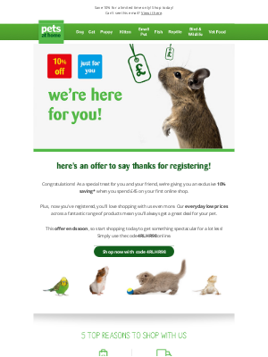 Pets at Home (UK) - An exclusive offer to start shopping