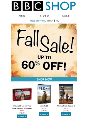 BBC - Save up to 60% During our Fall Sale!