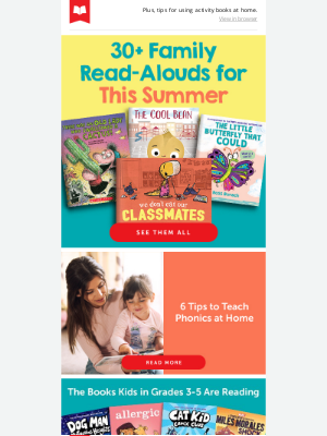 Scholastic - 30+ Family Read-Alouds for This Summer