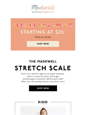 Check out our handy stretch scale