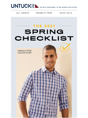 UNTUCKit - Inside: Your Spring Checklist