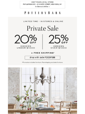 Up to 30% Off Our Best-Selling Dining + VIP Storewide Savings (Up to 25% Off!)
