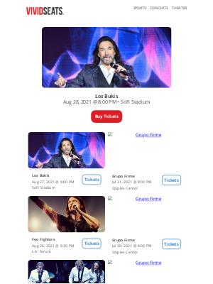 Vivid Seats - Los Angeles' Top Summer Concerts 🎤