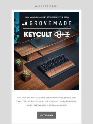 Grovemade - Last Day: The Ultimate Keyboard Setup Giveaway