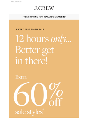 J.Crew - 12 hours only: extra 60% off sale styles