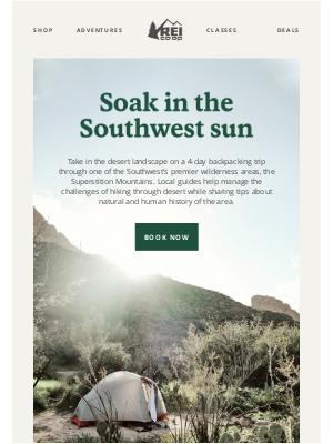 REI - Book Your Desert Getaway