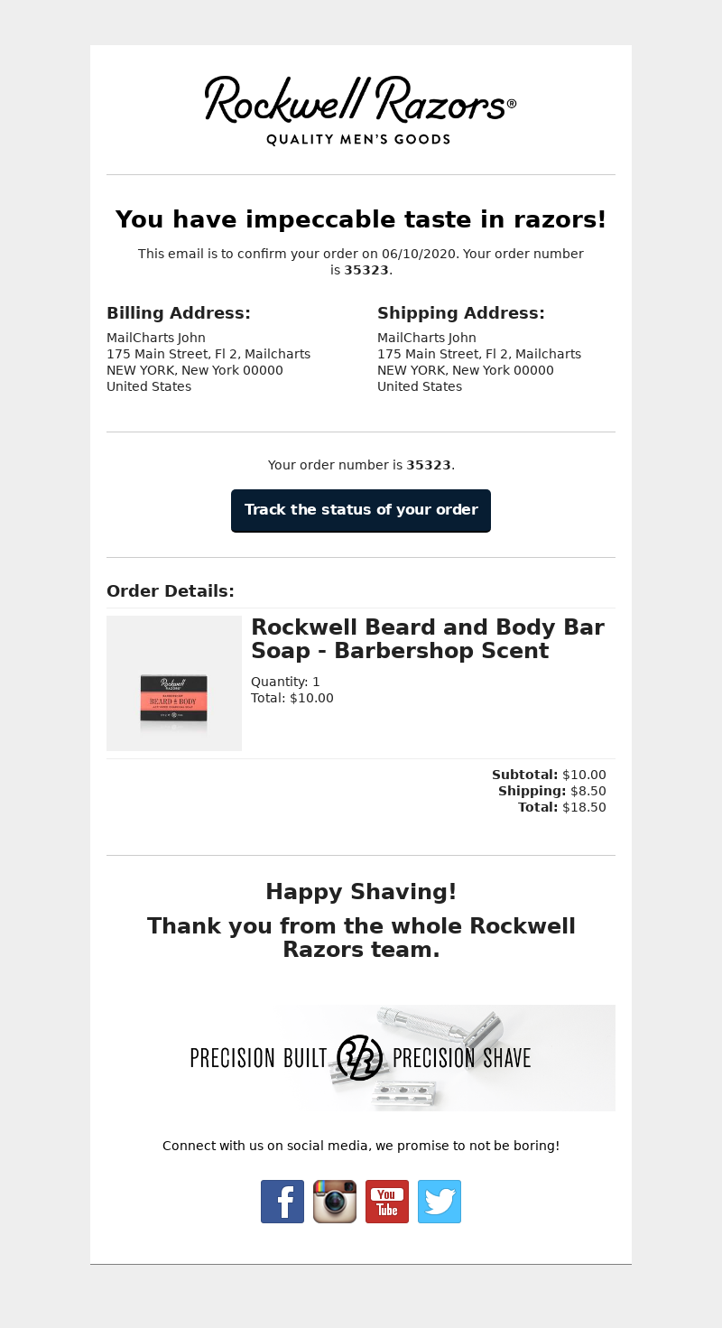 Rockwell Razors - Thanks for Shopping with Rockwell Razors!