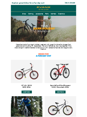 Evans Cycles (UK) - Your Bank Holiday Round-up