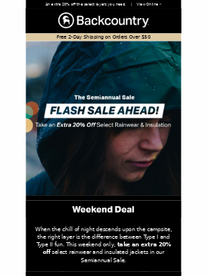 Flash Sale for Flash Weather