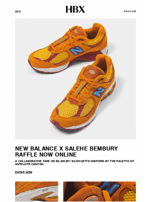 HYPEBEAST - New Balance x Salehe Bembury Raffle is Now Online for 48 Hours Only