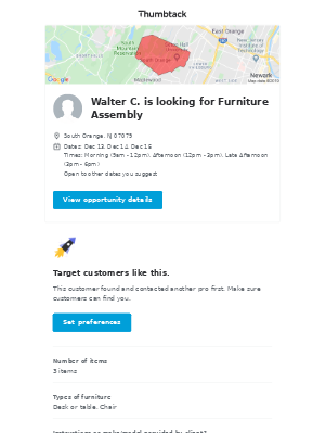 Walter C. needs Furniture Assembly in South Orange, NJ