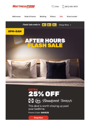 Mattress Firm - Our After Hours Sale ends soon!