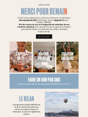 Sézane (France) - IMPORTANT - C'est aujourd'hui !