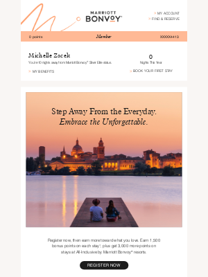 Marriott International - Embrace The Unforgettable; Your Account Update Has Arrived
